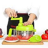 800 ml manual manual de alimentos picadora/molinillo de carne/máquina de dados de verduras y molino de carne/cortador de frutas con separador de huevo