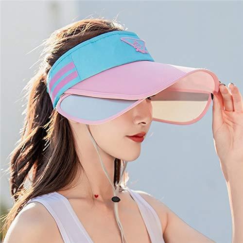MdsfeSombrero de Verano de ala Ancha Sombrero de Sol Superior vacío Gorra de béisbol Deportiva Ajustable para Hombres Sombrero de Sol de Bicicleta para Mujer -Style21-A1
