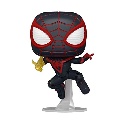 Funko Pop! Games: Marvel's Spider-Man: Miles Morales- Miles Morales (Styles May Vary), 3.75 inches