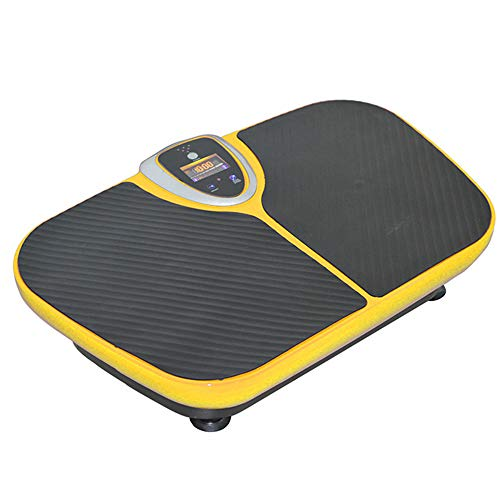WMNRNYD Viberation Platform Machine, Whole Body Workout Vibration Fitness Whole Body Vibration Machine Crazy Fit Vibration Plate with Remote Control And Resistance Bands,Yellow