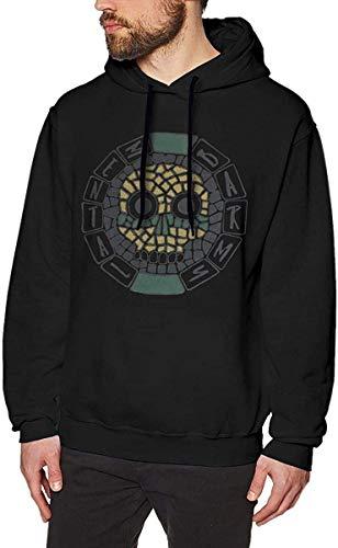 Rehero Men's Oingo Boingo Long Sleeve Hooded Sweat Shirt Pullover,As Pic,3X-L