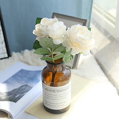 Hunpta @ Künstliche Rose Blumen Kunstblumen Romantisch Hochzeitsdeko Blumenarrangement Haus Büro Balkon Garten Hochzeit Party DIY Valentinstag Muttertag Deko Inneneinrichtungen