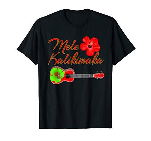 Mele Kalikimaka Hawaiian Ukulele T-Shirt
