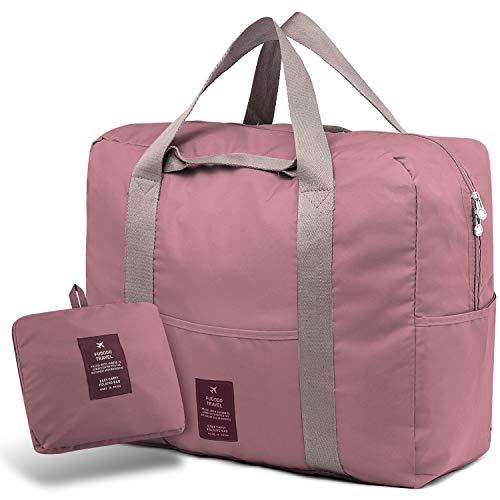 SPAHER Valigeria Borsoni Tote da viaggio Borsone pieghevole archiviazione bagagli corsa della spalla dell'organizzatore di immagazzinaggio Duffle Bag per campeggio palestra Shopping Sports 40L