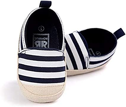 Fashion Blue Striped Baby Boys Baby Girls Shoes Lovely Infant First Walkers Cute Soft Sole Toddler Baby Shoes Pink, 0-6months/_11cm
