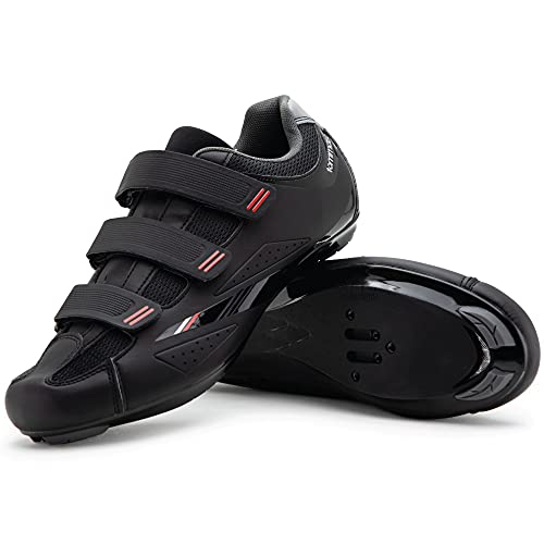 Tommaso Strada 100 Dual Cleat Compatible Road Touring Cycling Spin Shoe - 42 Black