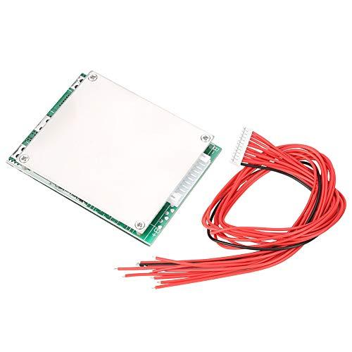 LANTRO JS - Placa de Protección de la Batería de iones de Li-ion 10S 36V placa PCB BMS de protección de batería de litio con protección de función de equilibrio (puerto común)