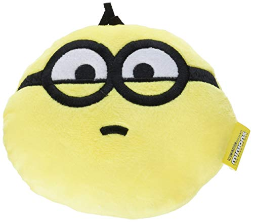 Minions for Pets Plush Toy Despicable Me Rise of Gru Otto Circle Dog Toy   Cute Plush Squeaky Dog Toy  Soft Stuffed Dog Toys in Yellow, Toys for All Dogs