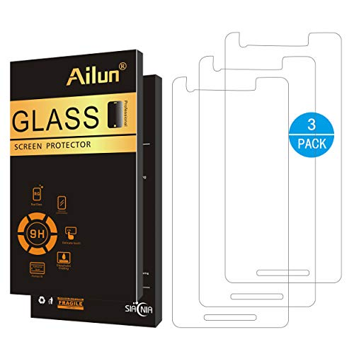 AILUN Screen Protector for Google Pixel 2 3Pack 0.25 Japanese Glass 2.5D Edge Tempered Glass for Google Pixel 2 Anti Scratch Case Friendly Siania Retail Package