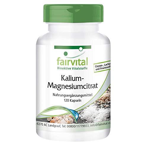 Citrato de Potasio y Magnesio - VEGANO - 120 Cápsulas - Calidad Alemana