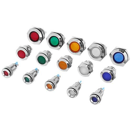 LED Kontrollleuchte 12V in 3 Grössen 8,12 & 16mm und in 5 Farben Rot,Grün,Orange, Weiß & Blau zum auswählen (Rot, 12mm)