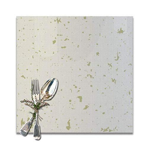 UPNOW Tischsets für den Esstisch Set mit 6 recycelten, gesprenkelten, beigen Goldpartikeln von Trümmern Vintage Fade Grange Placard Anti-Rutsch-waschbare Tischsets Leicht zu reinigen