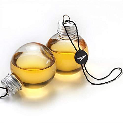 RENJIA IHGWE Glühbirne Flasche Dekoflasche Wasserflasche Glasvase mit Deckel 1 Stück Schnaps gefüllte Weihnachtsbaum-Ornamente Wasserflasche