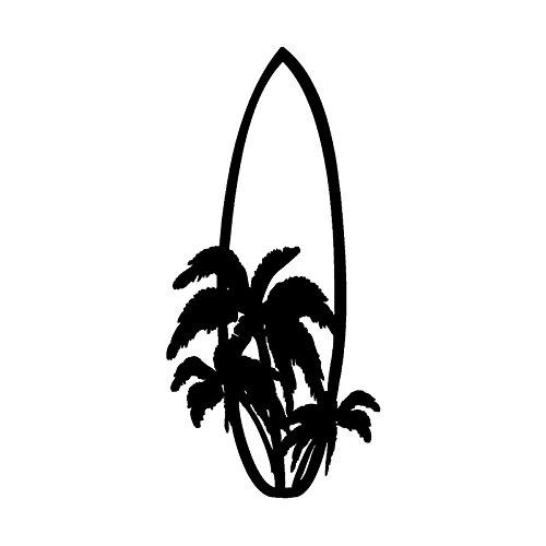 LYQXZ Forme la Tabla de Surf Surfing Coche Pegatina de Dibujos Animados Motocicleta Cubierta Decorativa Scratch PVC Pegatina de Coche Negro/Blanco, 15 cm X 7 cm (Color Name : Black)