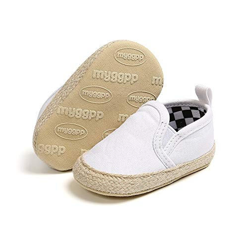 Simple Joys by Carter's Baby Boys Casual Slip-On Canvas Shoe Sneaker, Light Grey, 4 Infant