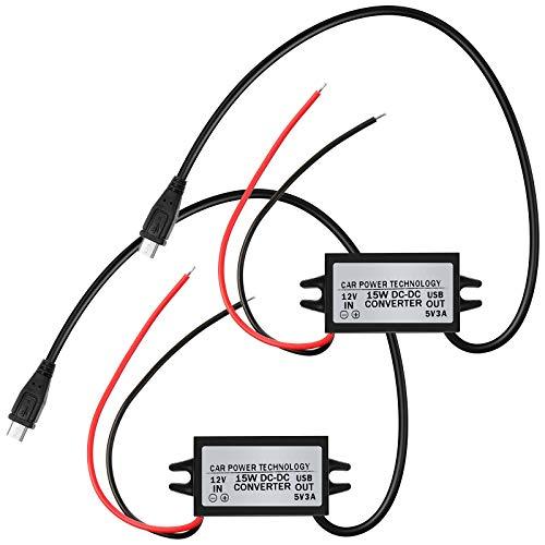DC-DC Module Convertisseur Buck 12V à 5V Adaptateur Secteur Micro USB Compatible avec Clavier d'Alarme à Sonnerie (2)