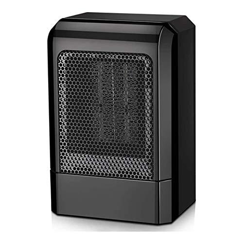 DFR-lumb Calefactor eléctrico portátil, calefactor rápido, 2 ajustes de calor, calefacción personal con protección contra sobrecalentamiento, para oficina en casa, color rojo (color: negro)