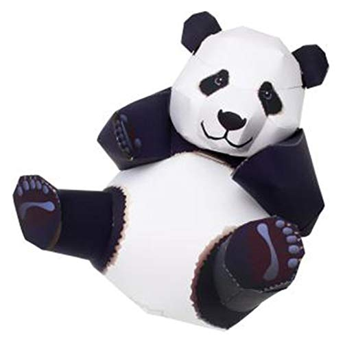 PaperCraft Big Panda 3D Papel Modelo Padre-Niño DIY Dibujos Animados Animal KindergarTroom Hecho a Mano Origami Dolls Dolls Niños Rompecabezas Desarrollo PaperCraft