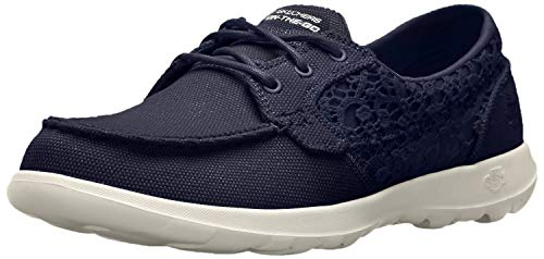 Skechers 15431, Náuticos para Mujer, Azul (Navy), 37 EU