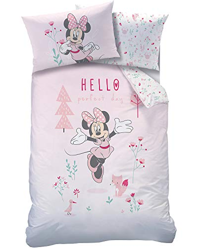 Disney Parure de lit Minnie Mouse pour bébé 40 x 60 cm + 100 x 135 cm