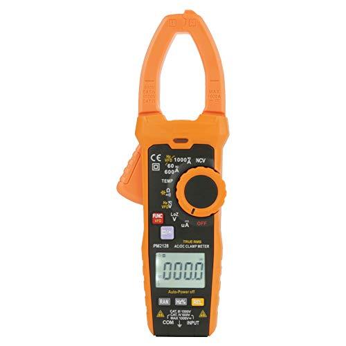 Multímetro de pinza digital, PM2128 Voltímetro de mano CA/CC Ohmímetro Capacitancia Medidor de temperatura Medidor de voltaje de corriente Capacitancia de temperatura, Medidor de temperatura de capaci