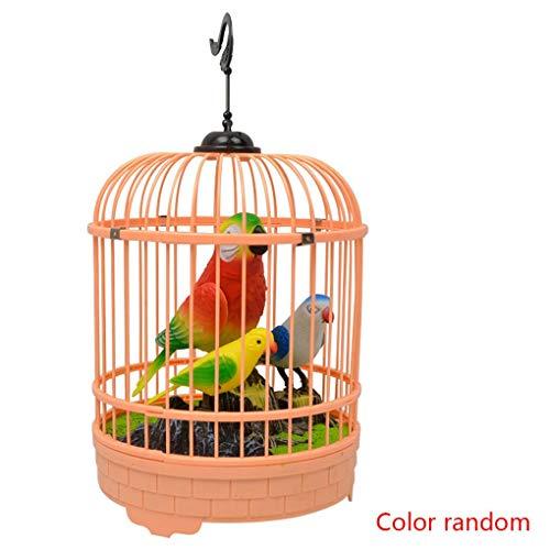 heacker Al Azar Color de los niños electrónicos interactivos Hablar Juguetes Mascotas Simulación Jaula de pájaros de Jaula de grillos Birthdayr Regalo de los niños
