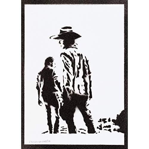 Poster Carl e Rick The Walking Dead Handmade Graffiti Street Art - Artwork