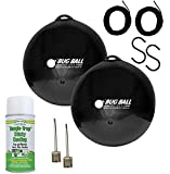 Bug Ball 2 Pack Deluxe Kit Complete- Odorless Eco-Friendly Biting Fly and Insect Killer with NO Pesticides or Electricity Needed, Kid and Pet Safe