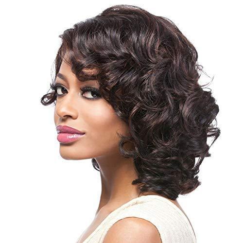 ZHANGYY Perruques de Cheveux Humains coupées Courtes de Lutin féminines pour Les Femmes Black Root Wigs13