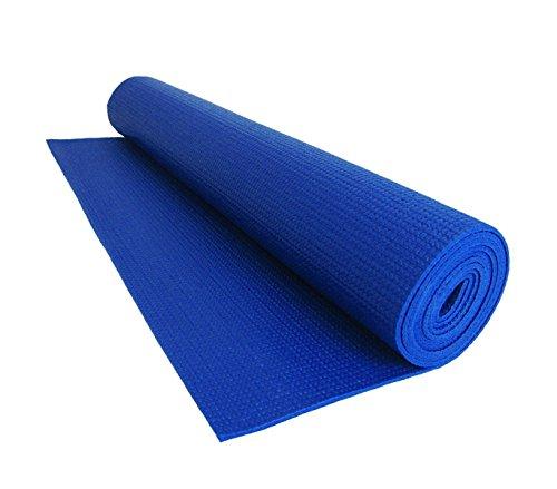 mws Tappeto 173x61cm Comfort per Yoga Fitness e allenamenti Sport Spessore 0,4 mm Antiscivolo (Blu)