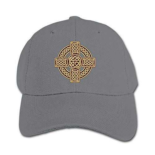Celtic Cross Irish Scottish Funky Kids Boys' Girls Hats Golf Cap Kids Baseball Cap Gray