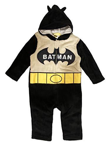 Batman vs Superman - Pijama de una pieza completa de 12, 18, 24, 36 meses, invierno 2020 Batman 12 meses