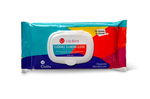Save an Additional 10% When You add Lily Bird Flushable Cleansing Cloths for Women (Regular Packaging) to an Order of Lily Bird Incontinence Pads for Women (Moderate Size)