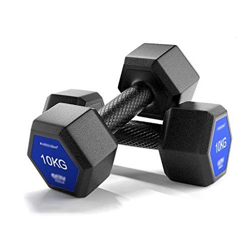 WYH Pesas Conjunto Pesas, Pesos Ajustables de Acero sólido Pesas Par Hex Dumbbell Peso for Home Gym Equipment Entrenamientos Musculación (Peso : 20Kg(10KG*2))