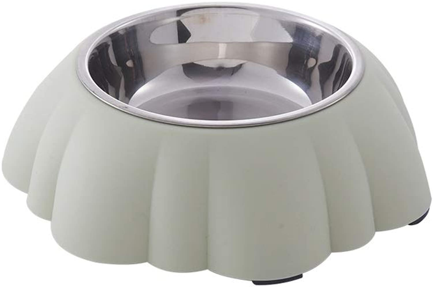Cat Bowl Dog Food Bowl Cat Small and Medium Dog Drinking Fountains Pet Supplies (color   Green)