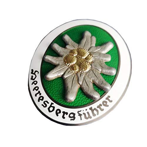 JXS Medalla de Edelweiss, Medalla Alemana de la Segunda Guerra Mundial, Insignia de aleación de Zinc, Colección de medallas de Guerra