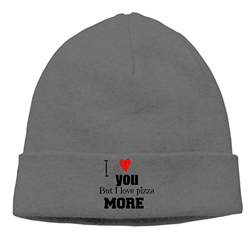 Unisex Beanies Caps I Love You But I Love Pizza Than More Skull Hats Soft Hedging Cap