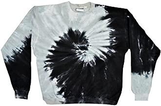 Colortone Tie Dye Sweatshirt 3X Spiral Black