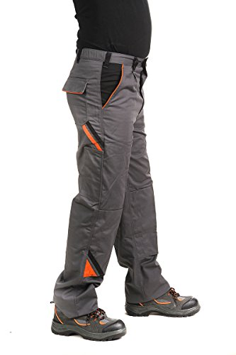 Bundhose Arbeitshose Arbeitskleidung Hose 320g/m2, grau PROFESSIONAL, Gr. 46-64 (54, grau)