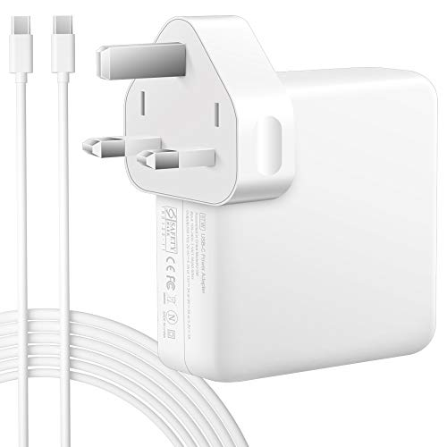 87W USB C Power Adapter Charger with 2M USB C Cable, Charge 87W / 61W / 30W USB-C Fast Charging, Compatible with MacBook Pro 15'' 13'' 2016 Late, MacBook Air 2018 Late, iPad Pro and other USB-C Device
