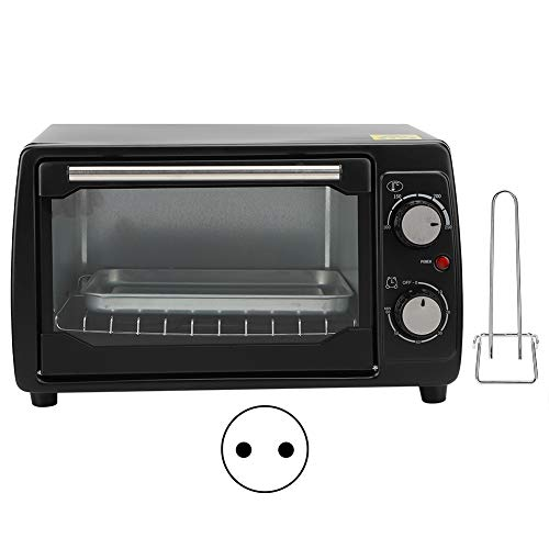 Horno eléctrico, horno portátil de 10 l, máquina de hornear eléctrica de escritorio, pequeña para caravanas, para el hogar, para chips de pizza, para asados o horneados, para(pink)