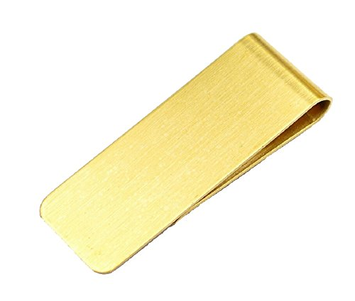 ILOVEDIY Geldklammer Herren Gold Silber Geldscheinklammer Edelstahl Money Clip Geschenk (Gold)