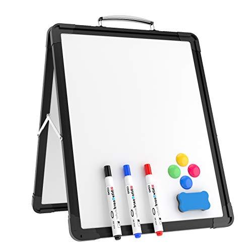 YEWOD Small Dry Erase - Pizarra blanca portátil, plegable, magnética, de doble cara, para oficina, hogar, escuela