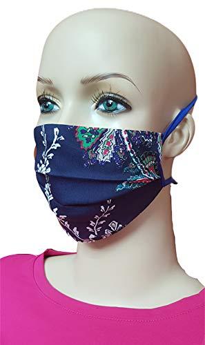 Torelle Mundmaske aus 100{3b708544a9a60da4c8f3d6424c2cdc8cc53b1dce7b045482e68758dfcfc50fcf} gewebter Baumwolle (2-lagig) waschbar, EU Produkt und Stoffe, Behelfsmaske, Gesichtsmaske, Stoffmaske, Mundbedeckung (One Size, dunkelblau Neitiri)