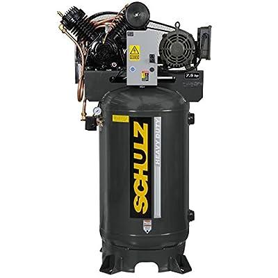 7.5 Hp 3 Phase 80 Gallon, 175 Psi, 30 Cfm, Schulz Air Compressor by Schulz
