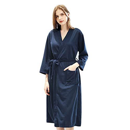 XCUGK Bata Kimono Mujer, Seda Satén Corto Kimono Bata