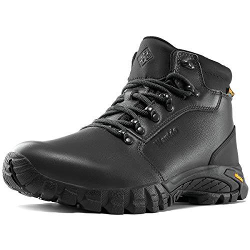 Wantdo Men Waterproof Hiking Boots Casual Fashion Vibram Boots Premium Non Slip Shoes Black 95 M US