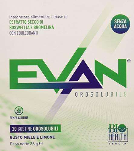 EVAN di Biohealth Italia - Integratore Alimentare a Base di Boswellia e Bromelina - Confezione da 20 bustine orosolubili