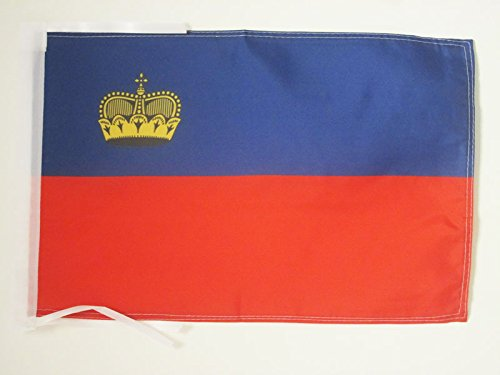 AZ FLAG Flagge Liechtenstein 45x30cm mit Kordel - LIECHTENSTEINISCHE Fahne 30 x 45 cm - flaggen Top Qualität