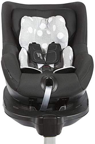 BAOBABS BCN - Reductor Universal para Silla de Coche y Paseo Bebé   Asiento Reductor para Portabebés, Capazo, Sillita de paseo y Cuna   Estampado Grey White Moon
